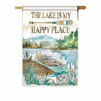 Breeze Decor BD-OU-H-109070-IP-BO-DS02-US 28 x 40 in. Lake is Happy Place Nature - Everyday O - 1
