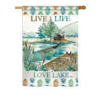 Breeze Decor BD-OU-H-109072-IP-BO-DS02-US 28 x 40 in. Live Life Lake Nature - Everyday Outdoo - 1