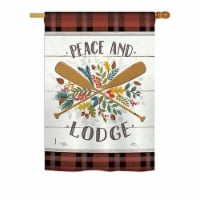 Breeze Decor BD-OU-H-109074-IP-BO-DS02-US 28 x 40 in. Peace And Lodge Nature - Everyday Outdo - 1
