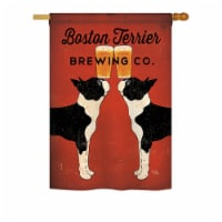 Breeze Decor BD-PT-H-110117-IP-BO-DS02-US 28 x 40 in. Boston Terrier Brewing Nature - Everyda - 1
