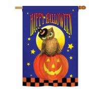 Breeze Decor BD-HO-H-112069-IP-BO-DS02-US Owl Sitting on Jack-O-Lantern Fall - Seasonal Hallo - 1