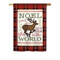 Breeze Decor BD-XM-H-114182-IP-BO-DS02-US Cheer to Reindeer Winter - Seasonal Christmas Impre