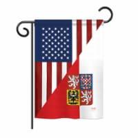 Breeze Decor BD-FS-G-108391-IP-BO-DS02-US US Czech Friendship Flag - s of the World - Everyda - 1