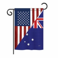 Breeze Decor BD-FS-G-108392-IP-BO-DS02-US US Australia Friendship Flag - s of the World - Eve - 1