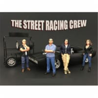 American Diorama 77481-77482-77483-77484 The Street Racing Crew Figure Set for 1-24 Scale Mod