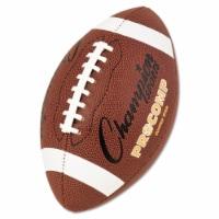 Champion Sport CF300 Pro Composite Football, Junior Size, 20.75 in., Brown - 1
