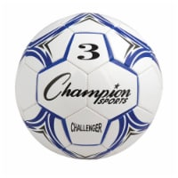 Champion Sports CH3BL Challenger Series Soccer Ball, Royal & White - Size 3 - 1