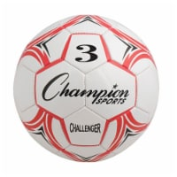 Champion Sports CH3RD Challenger Series Soccer Ball, Red & White - Size 3 - 1