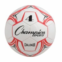 Champion Sports CH4RD Challenger Series Soccer Ball, Red & White - Size 4