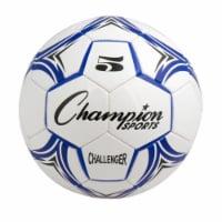 Champion Sports CH5BL Challenger Series Soccer Ball, Royal & White - Size 5 - 1