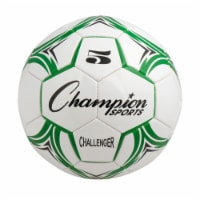 Champion Sports CH5GN Challenger Series Soccer Ball, Green & White - Size 5 - 1