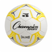 Champion Sports CH5YL Challenger Series Soccer Ball, Yellow & White - Size 5