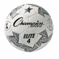 Champion Sports ELITE4 Elite Soccer Ball, White & Black - Size 4 - 1
