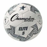 Champion Sports ELITE5 Elite Soccer Ball, White & Black - Size 5