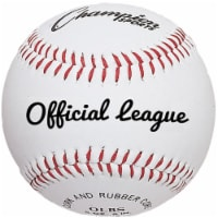 Champion Sports OLBS 3 in. Syntex Leather Official League Baseball, White & Red - Pack of 12