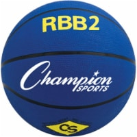 Champion Sports RBB2BL 27.5 in. Pro Rubber Basketball, Royal Blue