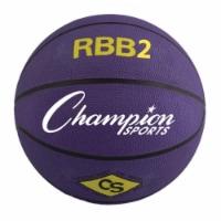 Champion Sports RBB2PR 27.5 in. Pro Rubber Basketball, Purple