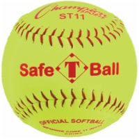 Champion Sports ST11 11 in. Safety Softball, Optic Yellow & Red