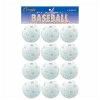 Champion Sports PLBB12R 9 in. Plastic Baseball, White - Set of 12