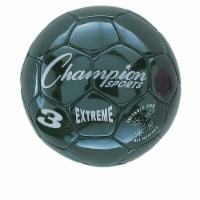 Champion Sports CHSEX3BK 3 Size Extreme Series Soccer Ball - Black