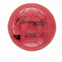 Champion Sports CHSEX4RD 4 Size Extreme Series Soccer Ball - Red