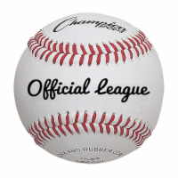 Champion Sports OLB5 3 in. Full Grain Leather Official League Baseball, White & Red - Pack of - 12