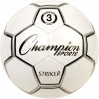 Champion Sports STRIKER3 Striker Soccer Ball, Black & White - Size 3 - 1