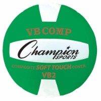 Champion Sports VB2GN 8.25 in. VB Pro Comp Series Volleyball, Green & White