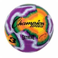 Champion Sports EXTD3 Extreme Tie Dye Soccer Ball - Size 3