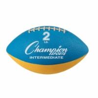 Champion Sports WF22 2 lbs Intermediate Size Football Trainer, Blue & Yellow