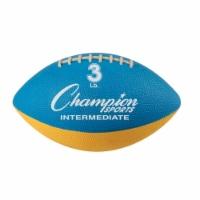 Champion Sports WF32 3 lbs Intermediate Size Football Trainer, Blue & Yellow