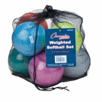 Champion Sports SBWTSET 12 in. Weighted Training Softball Set, Multi color - Set of 8