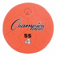 Champion Sports SS4 Super Soft Soccer Ball, Fluorescent Orange - Size 4 - 1