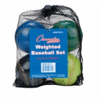 Champion Sports BBWTSET4 9 in. Weighted Training Baseball Set, Assorted colors - Set of 4