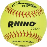 Champion Sports SB11 11 in. Syntex Cover Softball, Optic Yellow & Red