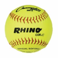 Champion Sports SB12 12 in. Synthetic leather Cover Softball, Optic Yellow & Red - 1