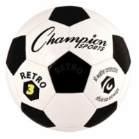 Champion Sports RETRO3 Retro Soccer Ball, Black & White - Size 3