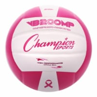 Champion Sports VB2PK Composite Volleyball - Pink & White
