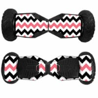 MightySkins SWT6-Black Pink Chevron Skin for Swagtron T6 Off-Road Hoverboard - Black Pink Che - 1