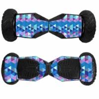 MightySkins SWT6-Purple Kaleidoscope Skin for Swagtron T6 Off-Road Hoverboard - Purple Kaleid