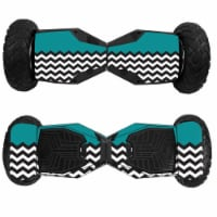 MightySkins SWT6-Teal Chevron Skin for Swagtron T6 Off-Road Hoverboard - Teal Chevron