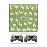 MightySkins PS3SLIM-Llama Skin for Sony Playstation 3 PS3 Slim Plus 2 Controllers - Llama