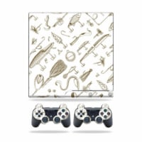 MightySkins PS3SLIM-Retro Lures Skin for Sony Playstation 3 PS3 Slim Plus 2 Controllers - Ret