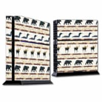 MightySkins SOPS4-Lodge Stripes Skin for Sony Playstation PS4 Console - Lodge Stripes - 1