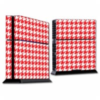 MightySkins SOPS4-Red Houndstooth Skin for Sony Playstation PS4 Console - Red Houndstooth