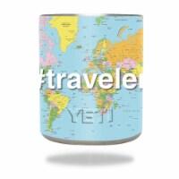 MightySkins YERAM10-Traveler Skin for Yeti 10 oz Rambler Lowball - Traveler - 1