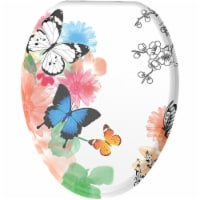 Sanilo 190 Elongated Soft Close Molded Wood Adjustable Toilet Seat, Butterfly - 1 Piece