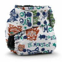 Kanga Care Rumparooz OBV One Size Pocket Cloth Diaper | Lil Monster Reboot (6-40lbs)