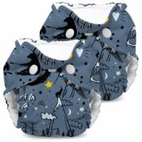 Kanga Care Lil Joey Newborn All in One AIO Cloth Diaper (2pk) Wander 4-12lbs - Newborn