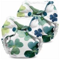 Kanga Care Lil Joey Newborn All in One AIO Cloth Diaper (2pk) Clover 4-12lbs - Newborn